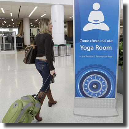 Fare Yoga in aereoporto... a San Francisco