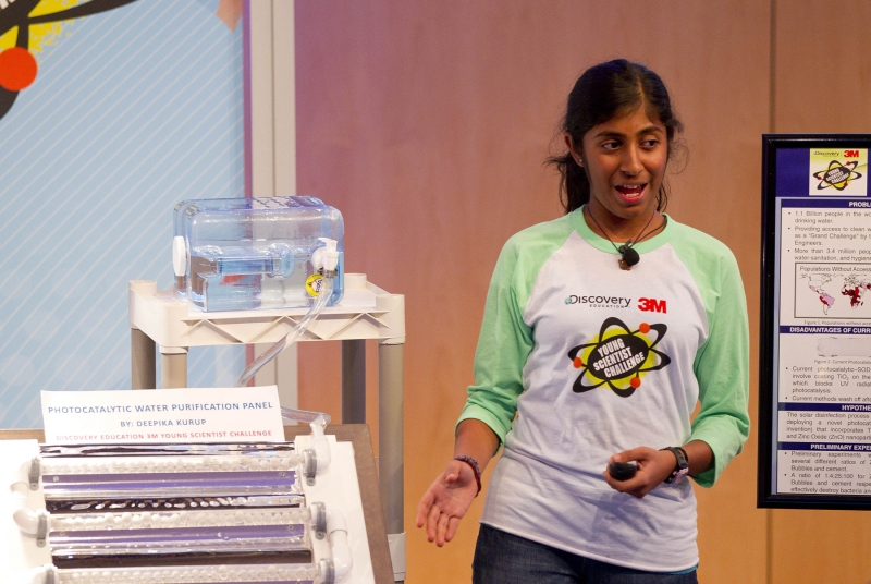 Adolescente inventa purificatore d'acqua ad energia solare