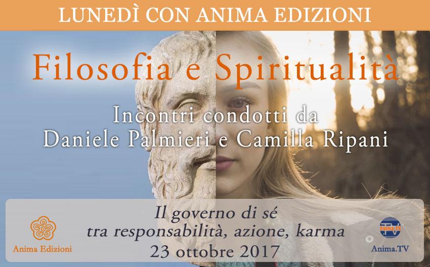 Filosofia e Spiritualità - Incontri con Daniele Palmieri e Camilla Ripani @ Anima Edizioni - Corso Vercelli, 56 - 20145 Milano