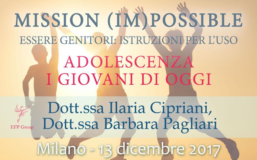 Workshop: Mission (Im)possible. Adolescenza - Ilaria Cipriani e Barbara Pagliari