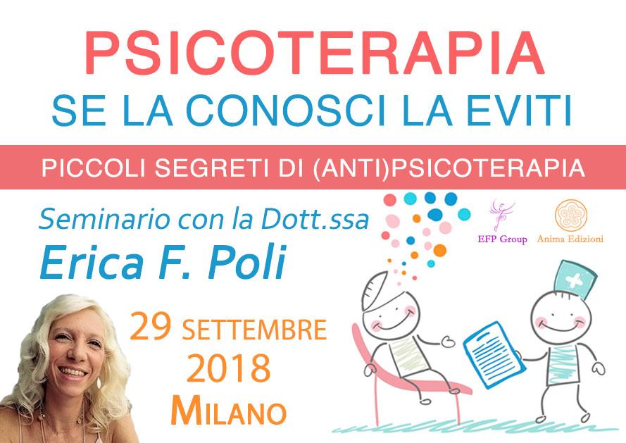 Seminario: Psicoterapia – Se la conosci la eviti con Erica F. P @ EFP Group – Milano, Corso Vercelli 56