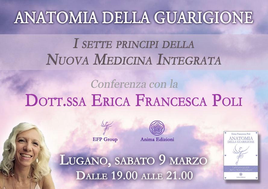 Conferenza: Anatomia della Guarigione con Erica F. Poli @ Hotel Pestalozzi – Piazza Indipendenza 9, Lugano (CH)