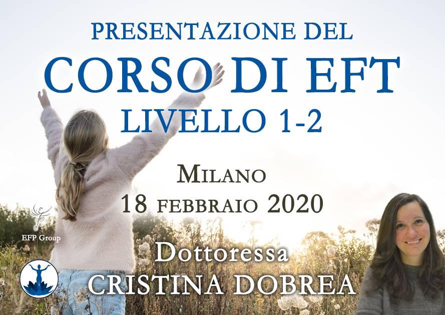 Presentazione del corso di EFT con Cristina Dobrea @ EFP Group – Milano, Corso Vercelli 56