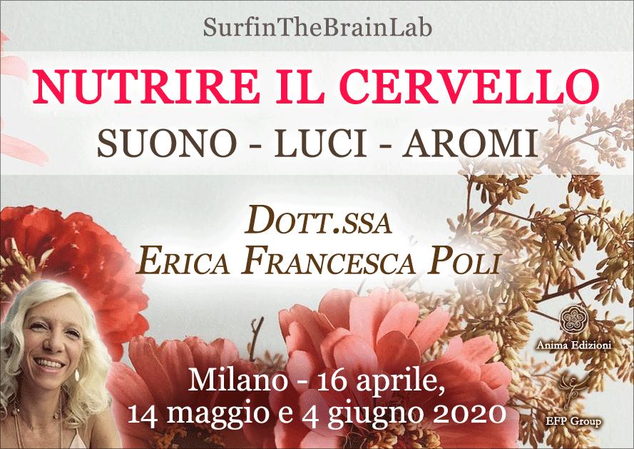 """Laboratori SurfinTheBrainLab: """"Nutrire il cervello"""" con Erica F. Poli @ EFP Group – Milano, Corso Vercelli 56"""