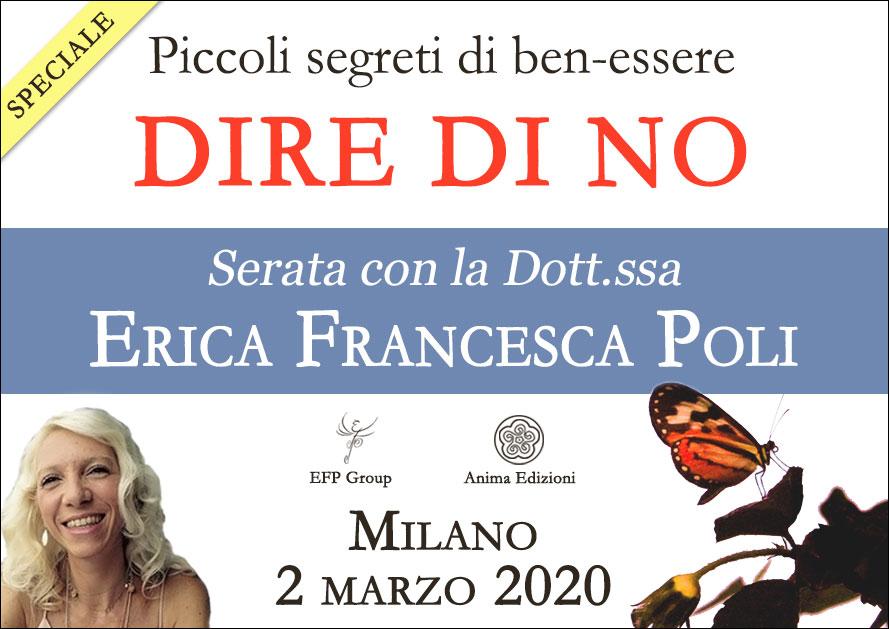 Serata: Piccoli segreti di ben-essere – Dire di no con Erica F. Poli @ EFP Group – Milano, Corso Vercelli 56