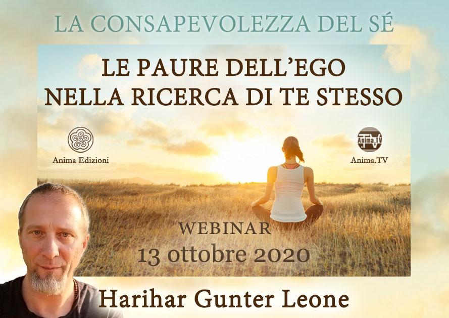 Le paure dell'ego nella ricerca di te stesso con Harihar Gunter Leone (Diretta streaming) @ Diretta streaming
