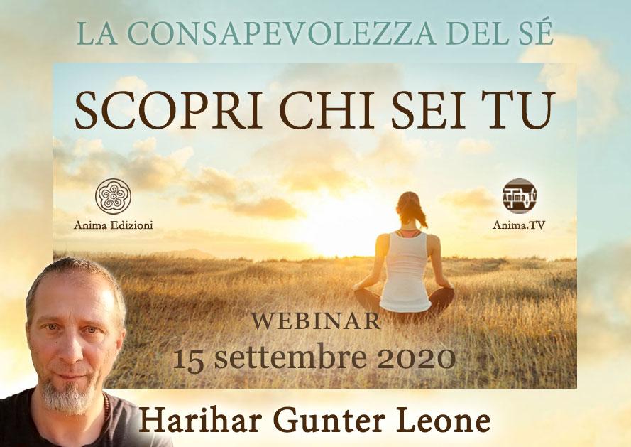 Webinar: Scopri chi sei tu con Harihar Gunter Leone @ Diretta streaming