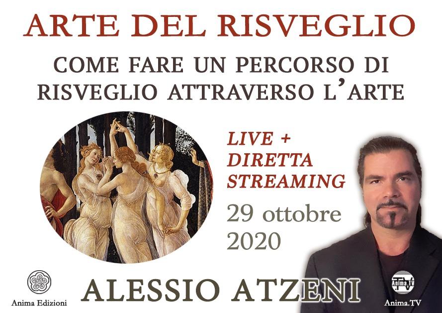 Workshop: Arte del Risveglio con Alessio Atzeni (Live + diretta streaming) @ Anima – Corso Magenta, 83
