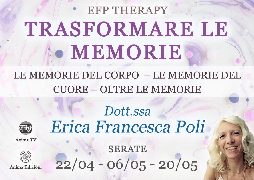 Trasformare le memorie: oltre le memorie – Serata con Erica F. Poli (Diretta streaming + Live) @ Diretta streaming + Live