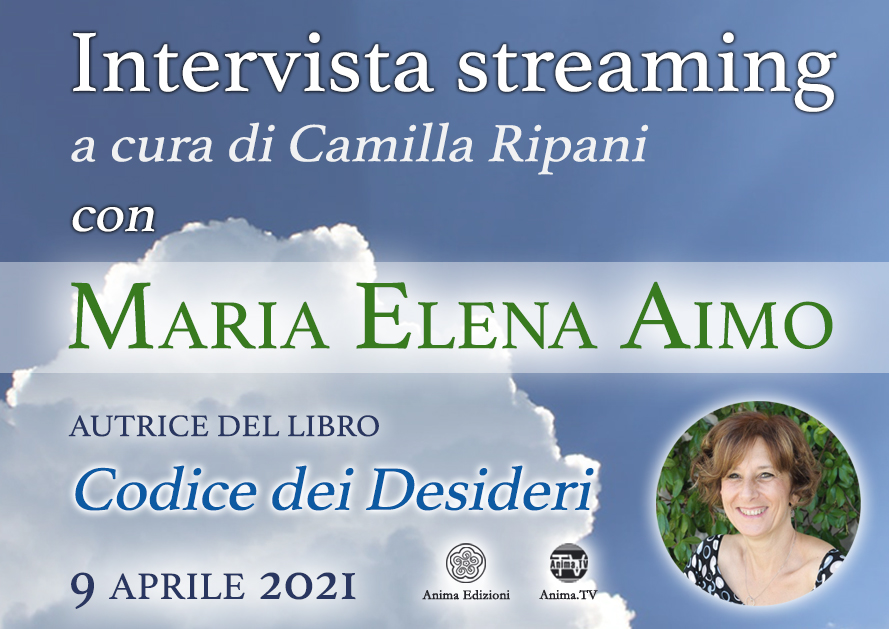 Intervista streaming con Maria Elena Aimo @ Diretta streaming